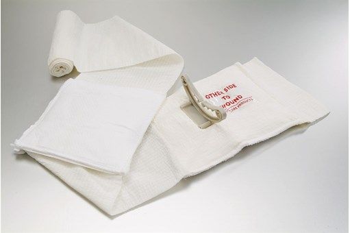 Civilian White Emergency Bandage With Mobile Pad.jpg